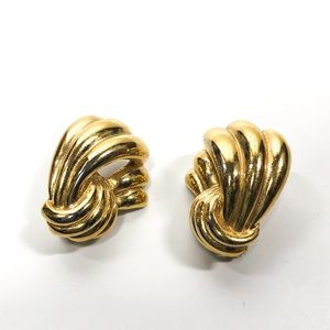 GIVENCHY Vintage Gold Tone Earrings